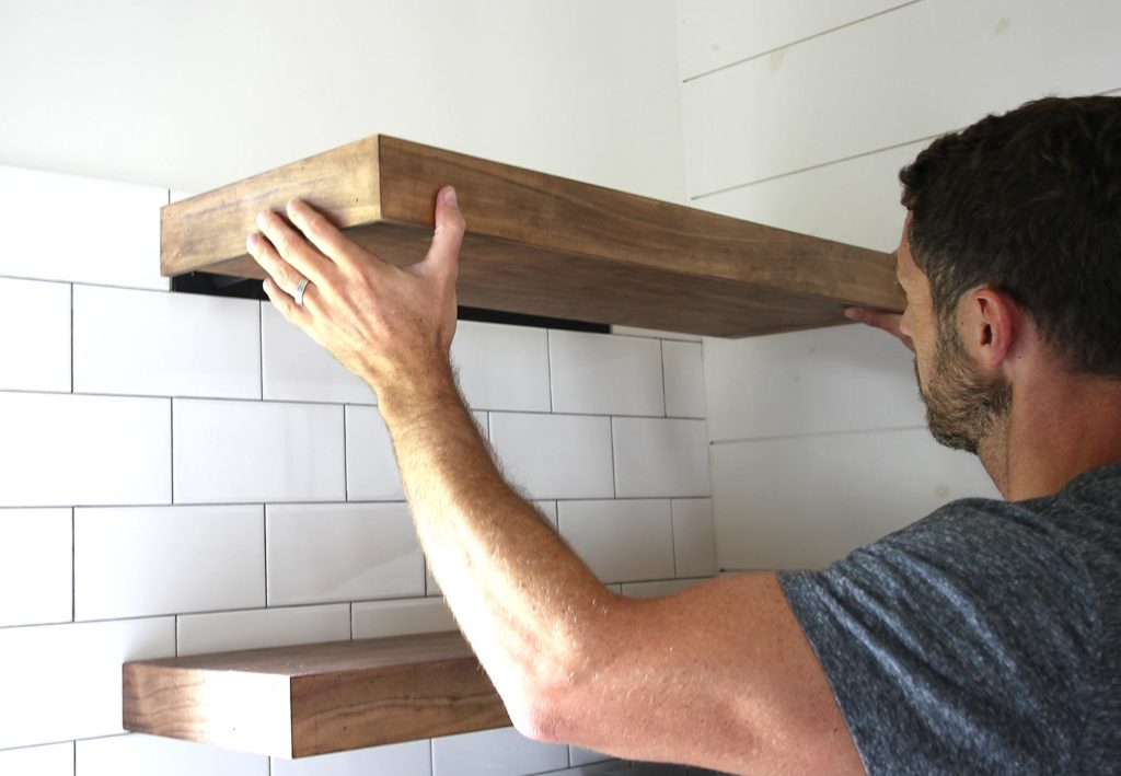 How To Build And Install Floating Shelves For The Kitchen Plank