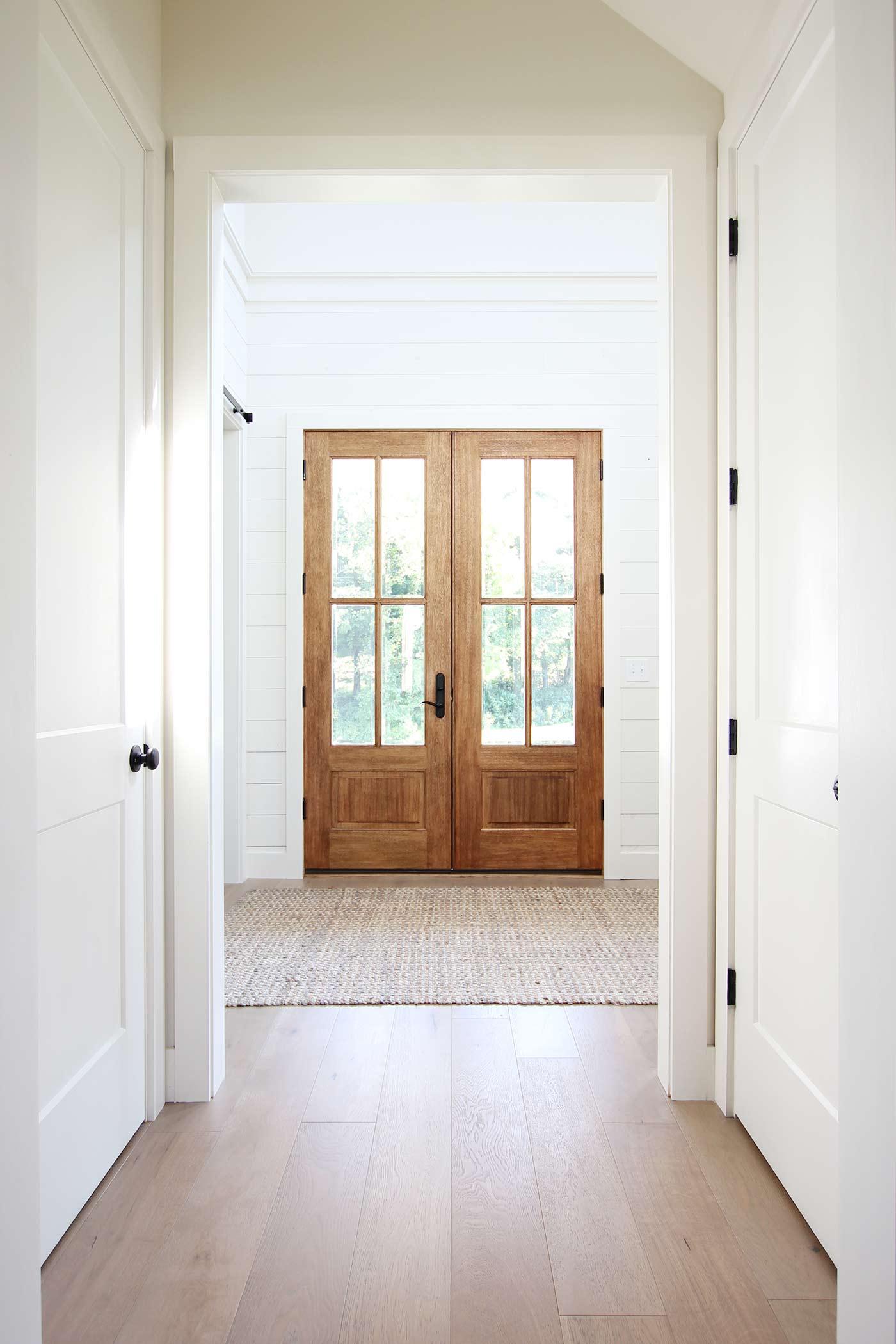 Our modern farmhouse foyer dining and half bath plank - Best foyer paint colors ...