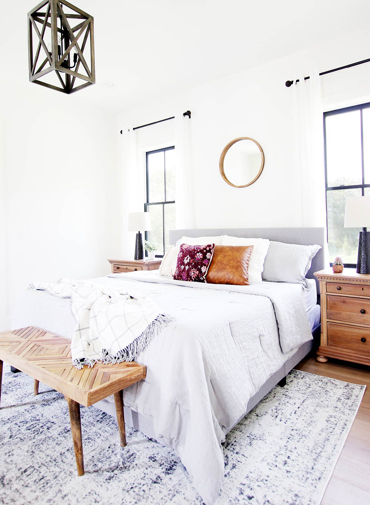Creating a Light and Airy Bedroom - Plank and Pillow