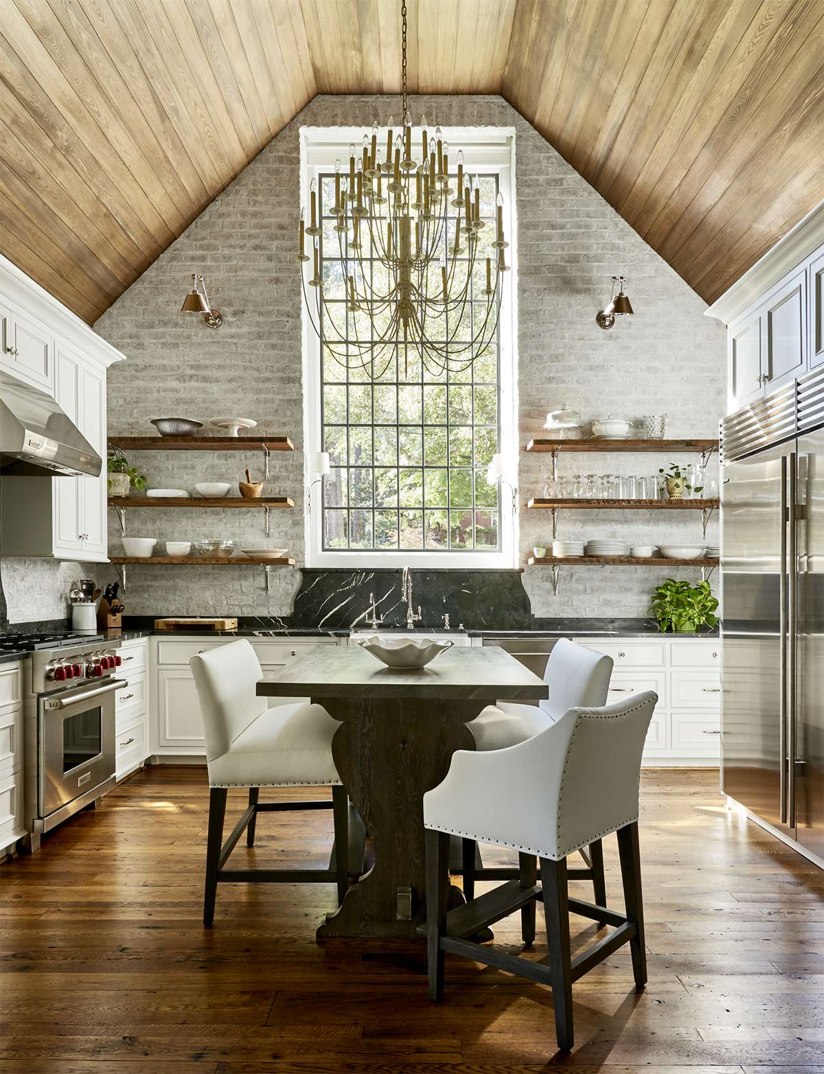 Vaulted Ceilings in the Kitchen: Pros and Cons - Plank and Pillow