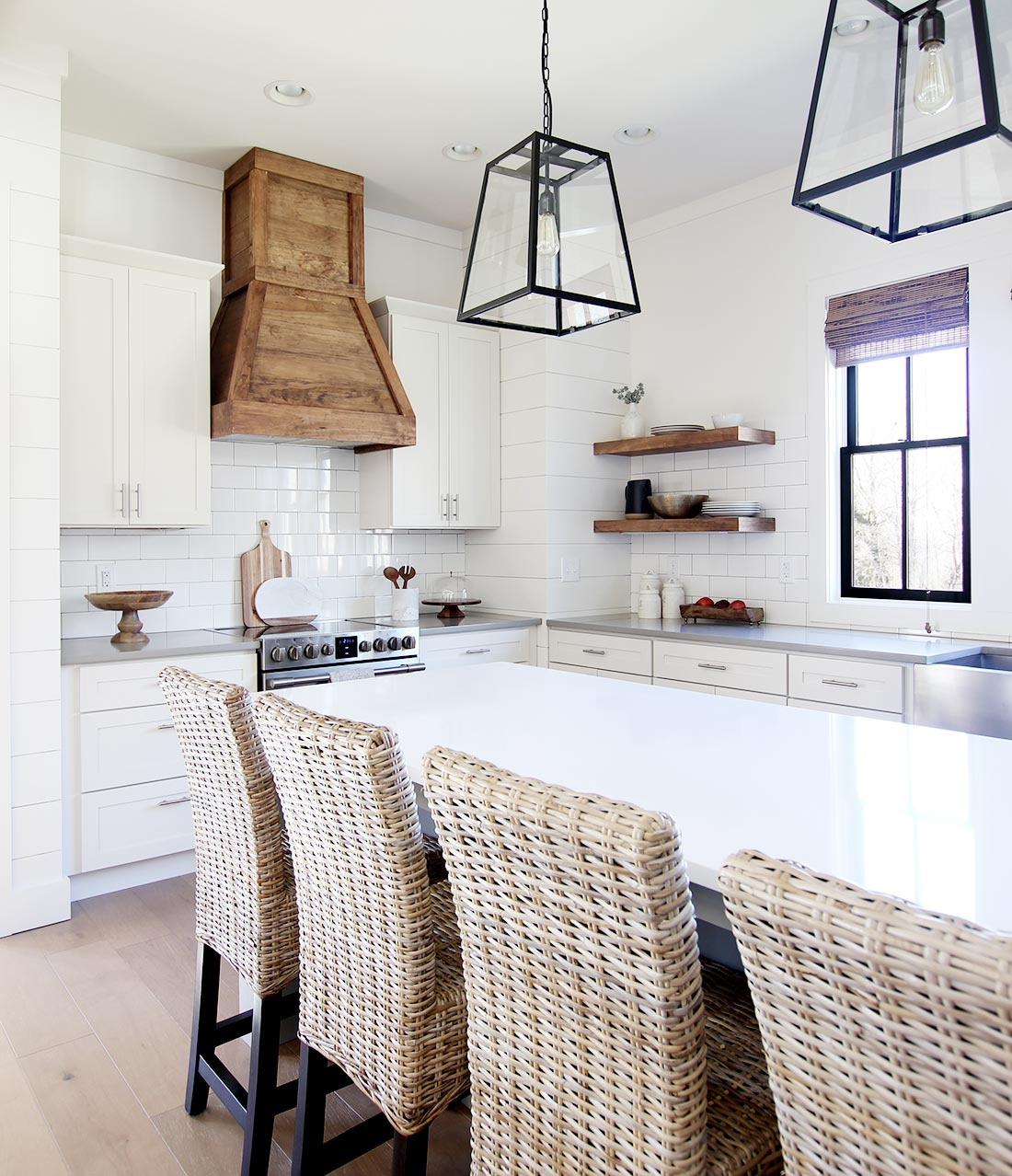 When We Designed The Kitchen In Our Modern Farmhouse Chose To Go With A Stainless Hood Add Little However After Living