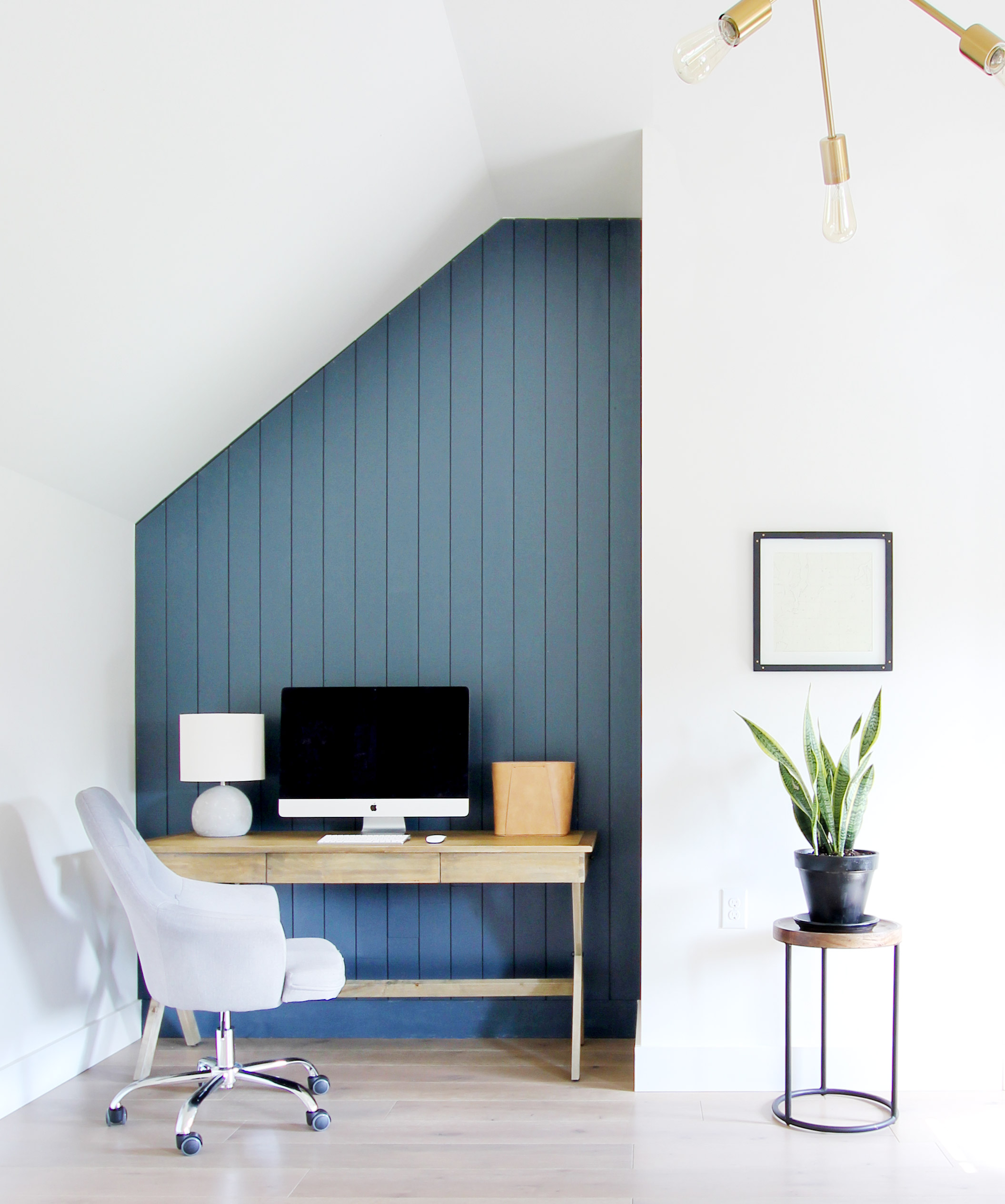 Dark Home Office Inspiration And Ideas Plank And Pillow