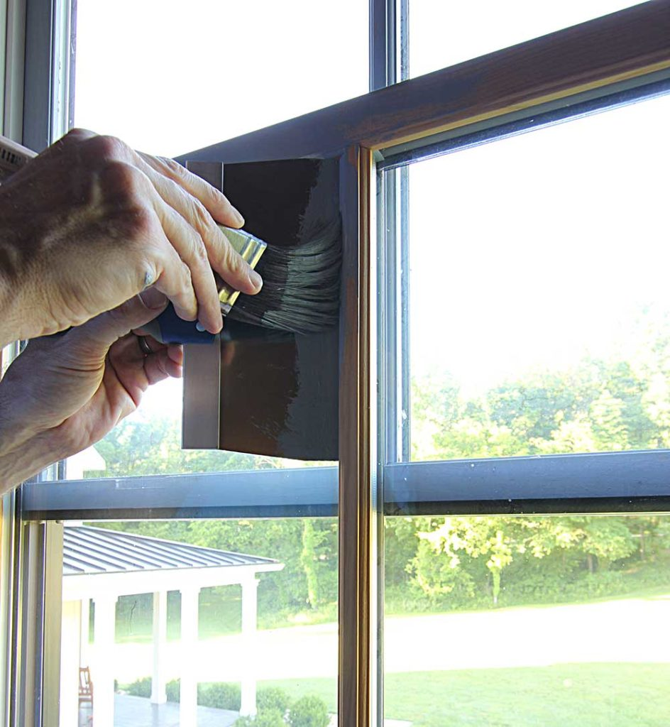 How To Paint Windows Black No Taping Required Plank And Pillow