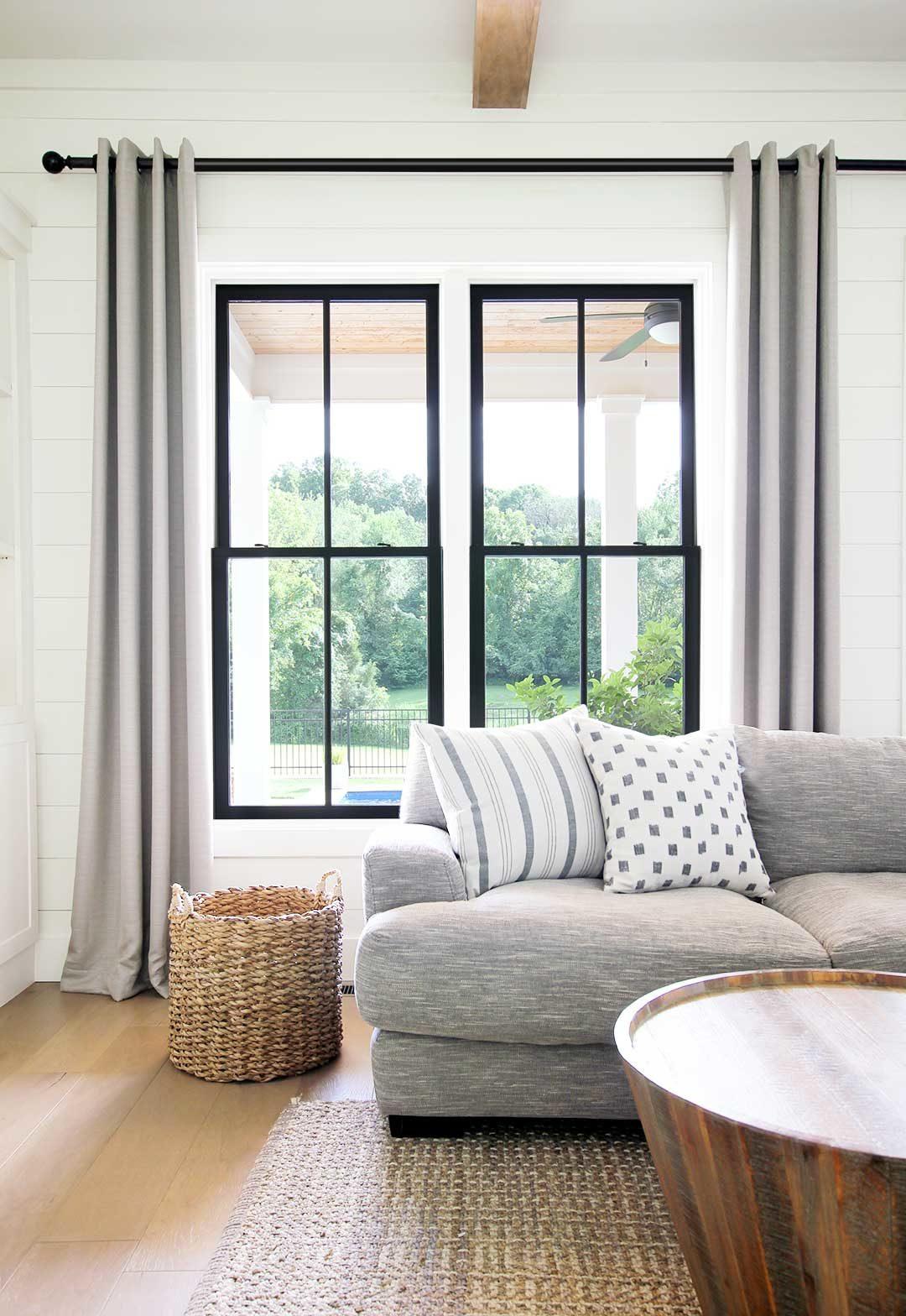 Black vs White Windows Plank and Pillow