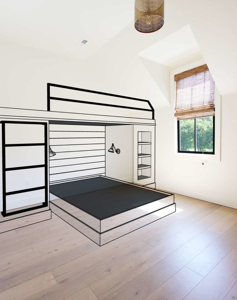 Picture of: Planning And Designing A Built In Bunk Bed Plank And Pillow