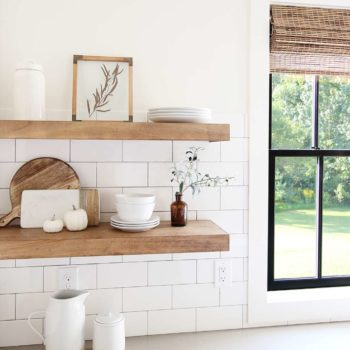 How to Build and Install Floating Shelves for the Kitchen