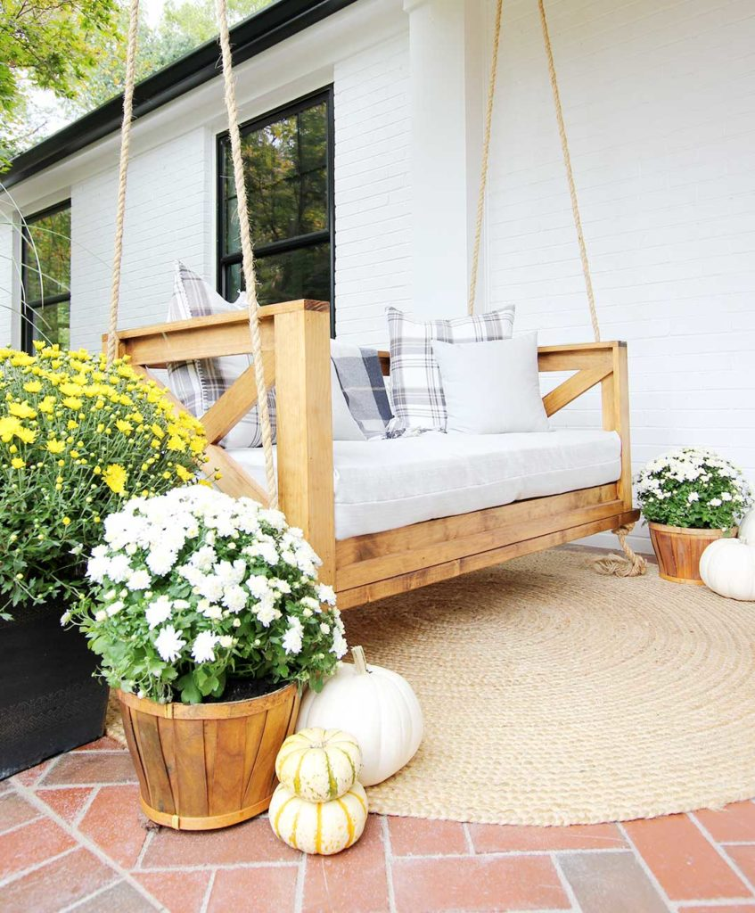 How To Decorate Your Porch For Fall Plank And Pillow