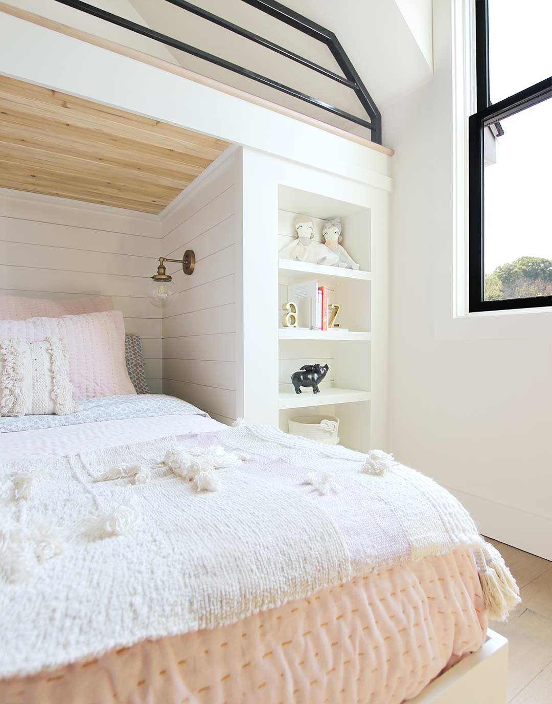 Built In Bunk Bed Reveal Plank And Pillow