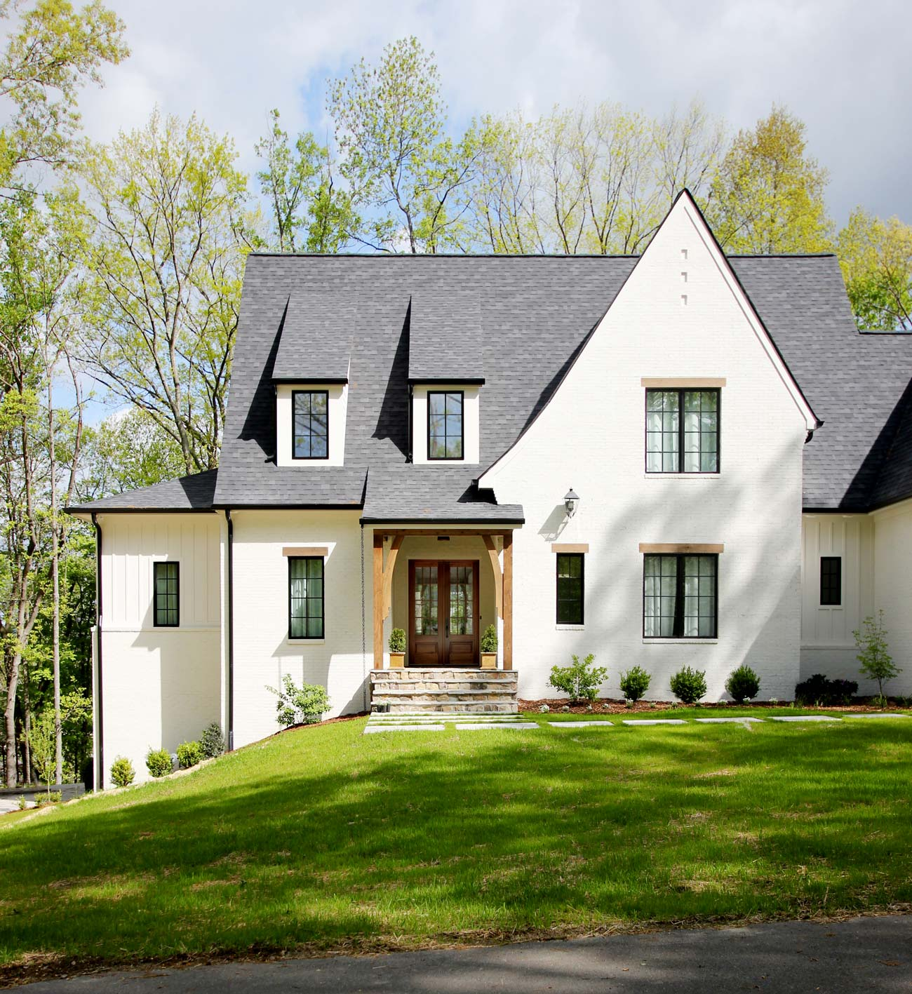 Tips For Painting Exterior Brick And How Much It Costs Plank And Pillow