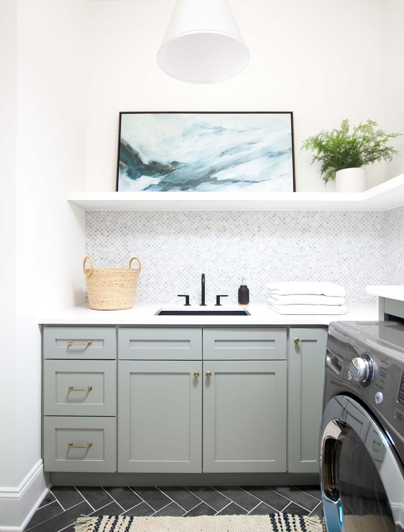Best Laundry Room Cabinet Paint Colors - Plank and Pillow
