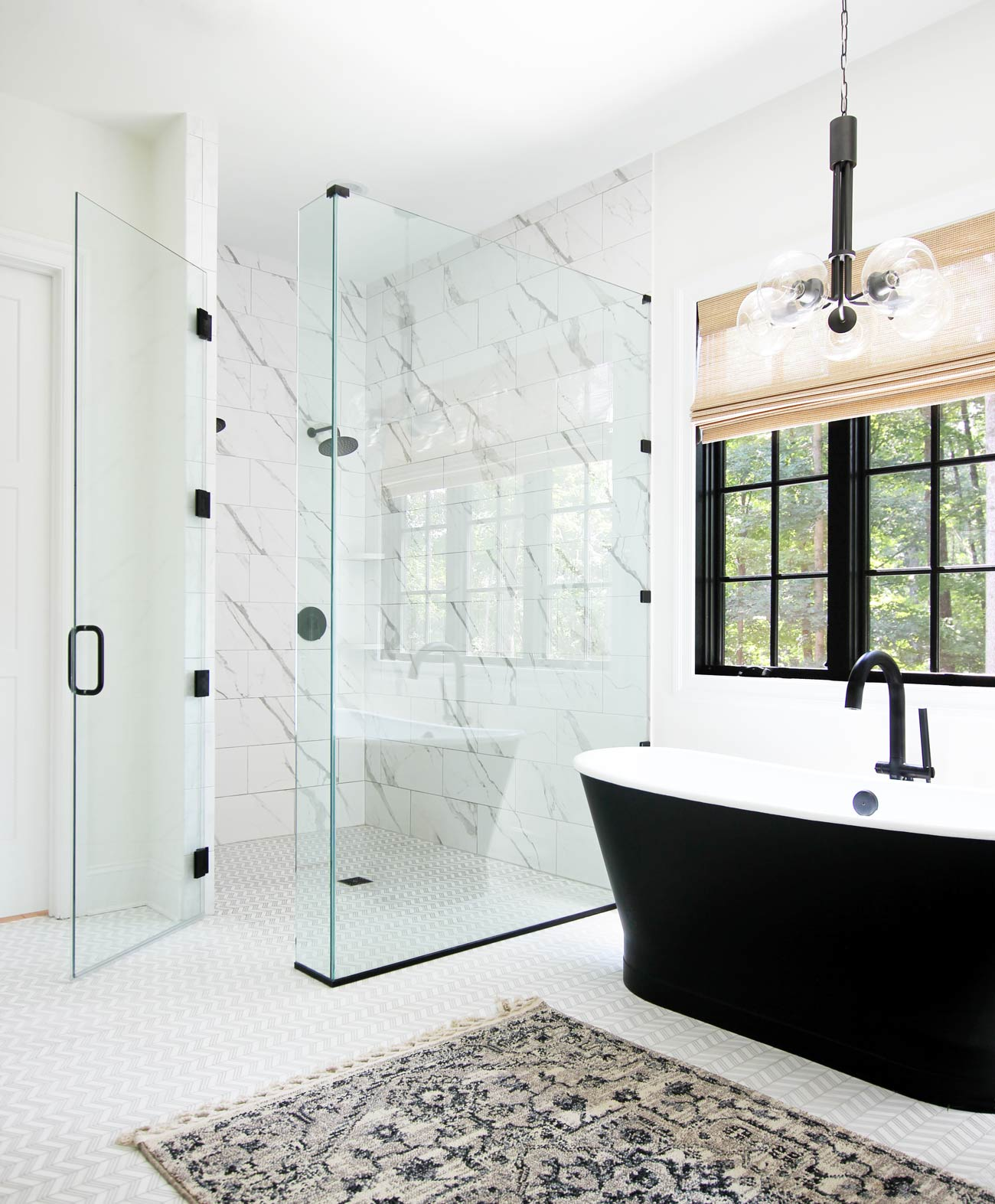 clean glass shower